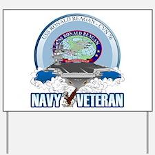 CVN-76 USS Reagan Yard Sign
