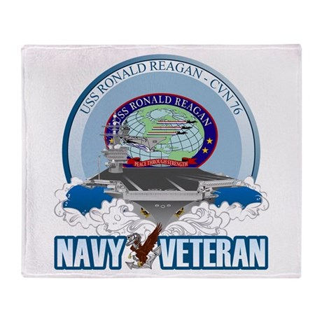 CVN-76 USS Reagan Throw Blanket