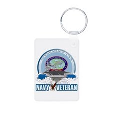 CVN-76 USS Reagan Aluminum Photo Keychain