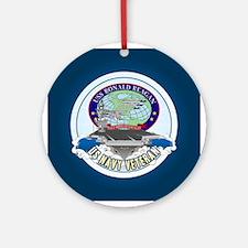 CVN-76 USS Reagan Ornament (Round)