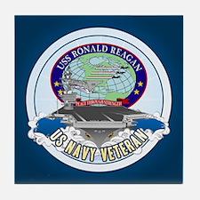 CVN-76 USS Reagan Tile Coaster