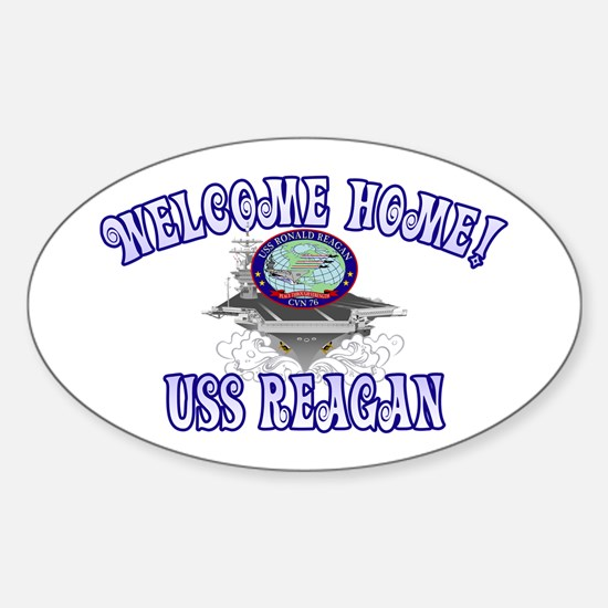 Welcome USS Reagan! Sticker (Oval)