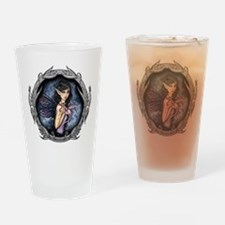 Gothic Fairy and Dragon Fantasy Art Drinking Glass