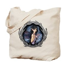 Gothic Fairy and Dragon Fantasy Art Tote Bag