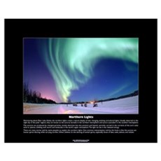 Northern Lights Over Bear Lake, Alaska Poster Poster