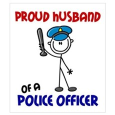 Proud Husband 1 (Police Officer) Wall Art Framed Print
