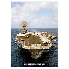 USS AMERICA Wall Art Poster