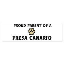 Proud Parent: Presa Canario Bumper Car Sticker