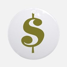 Dollar Sign Ornament (Round)