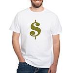 Dollar Sign White T-Shirt
