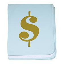 Dollar Sign baby blanket