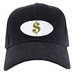 Dollar Sign Black Cap
