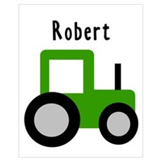 Robert - Green Tractor Wall Art Framed Print
