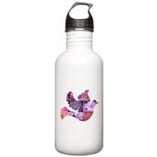 Pink Dove Flying Water Bottle