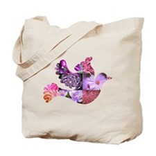 Pink Dove Flying Tote Bag