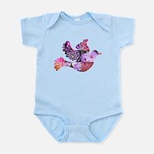 Pink Dove Flying Infant Bodysuit