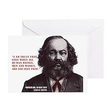 Bakunin Free Greeting Card