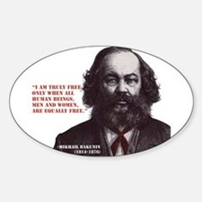 Bakunin Free Sticker (Oval)