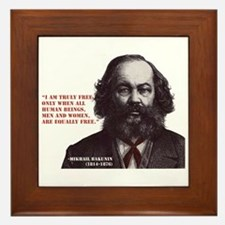 Bakunin Free Framed Tile