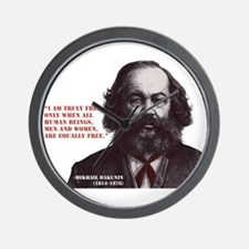 Bakunin Free Wall Clock