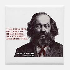 Bakunin Free Tile Coaster