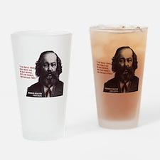 Bakunin Free Drinking Glass