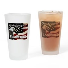 Proud Parents of a US Soldier Drinking Glass