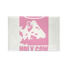 Holy Cow - Pink Rectangle Magnet