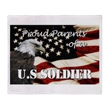 Proud Parents of a US Soldier Throw Blanket