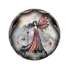 "Autumn Winds Gothic Fairy Fan 3.5"" Button (100 pac"