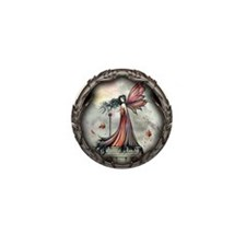 Autumn Winds Gothic Fairy Fan Mini Button (100 pac