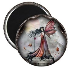 "Autumn Winds Gothic Fairy Fan 2.25"" Magnet (100 pa"