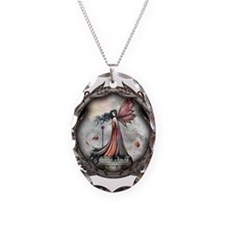 Autumn Winds Gothic Fairy Fan Necklace