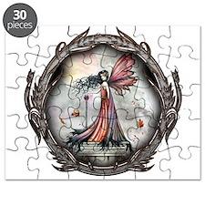 Autumn Winds Gothic Fairy Fan Puzzle