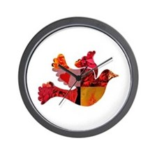 Red Bird Dove Flight Wall Clock
