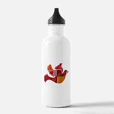 Red Bird Dove Flight Water Bottle