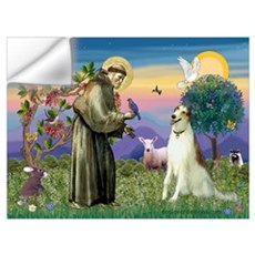 St Francis & Borzoi Wall Art Wall Decal