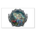 Alice in Wonderland Sticker (Rectangle 50 pk)