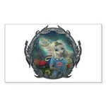 Alice in Wonderland Sticker (Rectangle 10 pk)