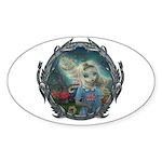 Alice in Wonderland Sticker (Oval 50 pk)