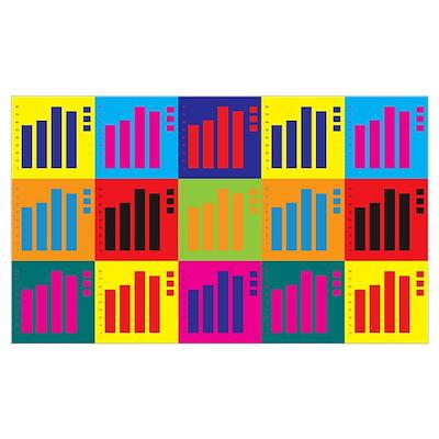 Statistics Pop Art Wall Art Poster