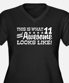 Funny Eleven Year Old Women's Plus Size V-Neck Dar