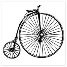 Antique Bicycle Wall Art Poster