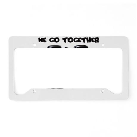 We belong together License Plate Holder