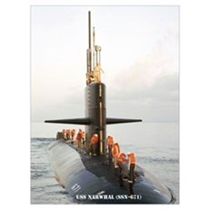 USS NARWHAL Wall Art Poster