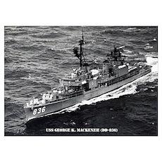 USS GEORGE K. MACKENZIE Wall Art Poster