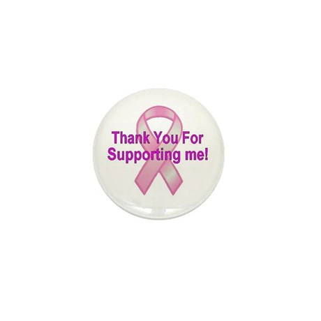 Thank You Breast Cancer Mini Button