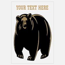 Big Bear with Custom Text. Wall Art