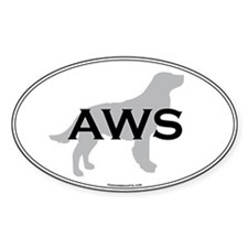 Am Water Spaniel Oval Decal