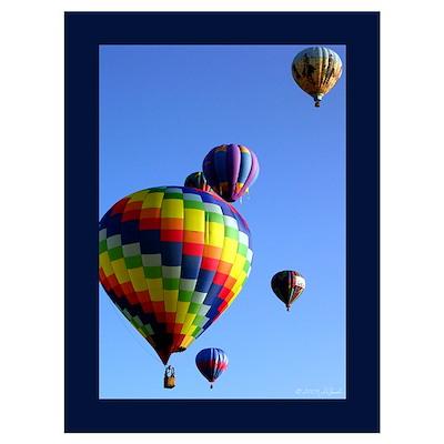 Hot Air Balloon Wall Art Poster